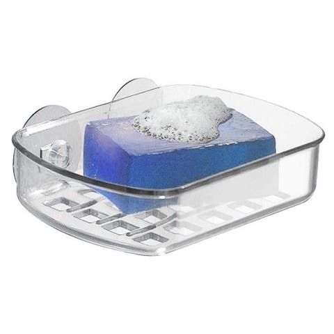 InterDesign 19600 Suction Soap Dish, Clear