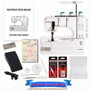 Janome CoverPro 900CPX Coverstitch Machine w/ Bonus Bundle