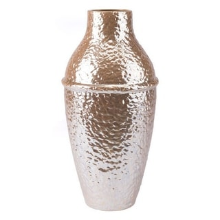 Textured Vase Pearl Yellow Ceramic