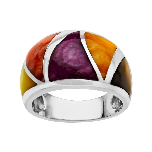 Kabana Spiney Oyster Shell Ring in Sterling Silver - Multi-Color