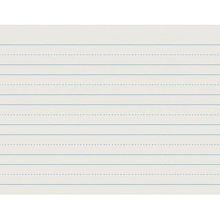 School Smart Skip-A-Line Ruled Writing Paper, 1 Inch Ruled Long Way, 10-1/2 x 8 Inches, 500 Sheets
