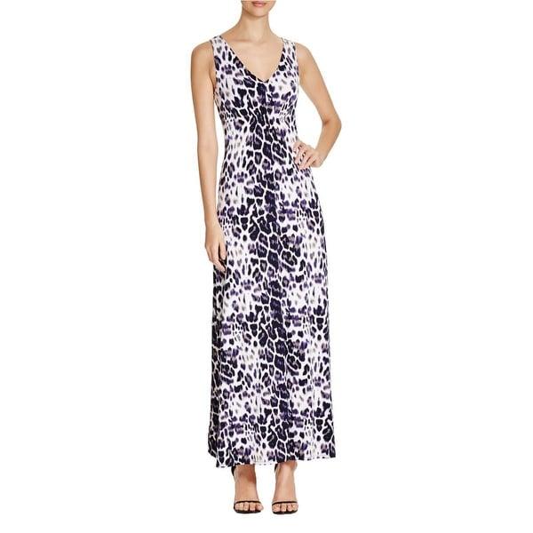 T Tahari Womens Nima Maxi Dress Printed Jersey