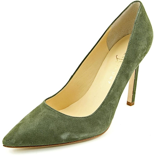 Ivanka Trump Carra Women Pointed Toe Suede Green Heels
