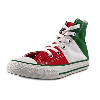 Converse Chuck Taylor Tri Panel Hi Youth Round Toe Canvas Multi Color Sneakers
