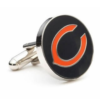 Silver Plated Chicago Bears Cufflinks