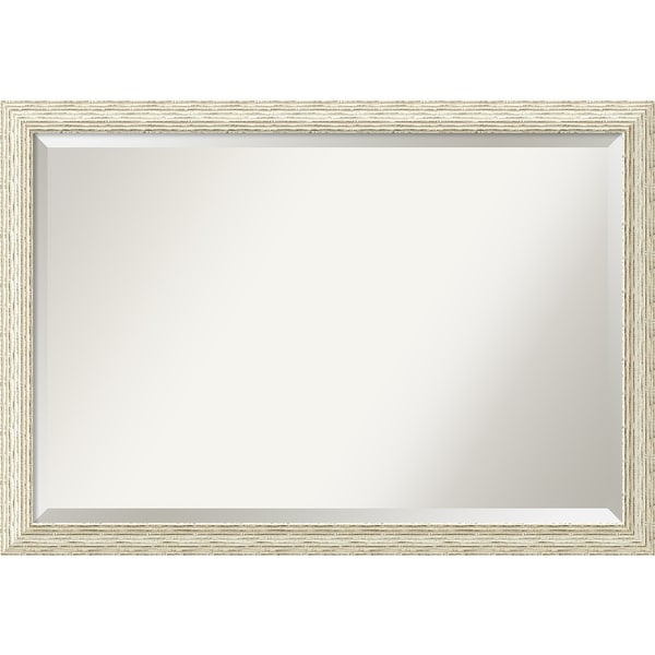 Bathroom Mirror Extra Large, Cape Cod White Wash 40 x 28-inch - 27.38 x 39.38 x 0.908 inches deep. Opens flyout.