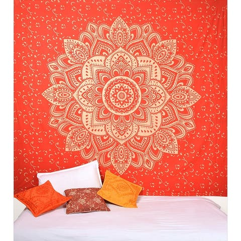 Oussum Wall Hanging Tapestry For Home decor Hippie Bohemian Mandala Tapestry Beach Blankets For Ladies Girls