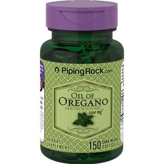Piping Rock Oil of Oregano 1500 mg 150 Quick Release Capsules Herbal Supplement - green