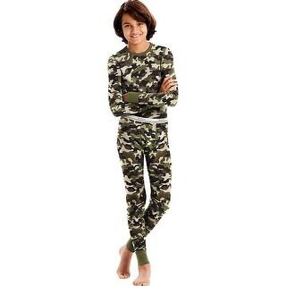 Hanes X-Temp®; Boys' Organic Cotton Camo Thermal Set - Size - M - Color - Camo