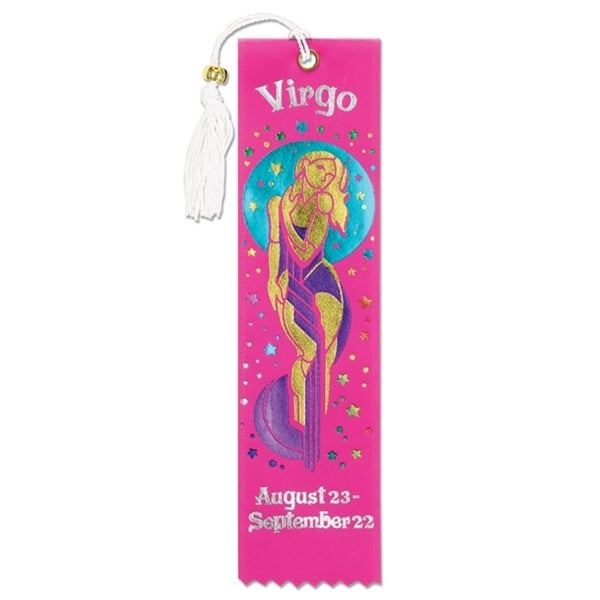 Pack of 6 Pink ''Virgo'' Bookmarks 2'' x 7.75'' - N/A