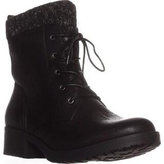 BareTraps Onnabeth Lace-Up Combat Boots, Black