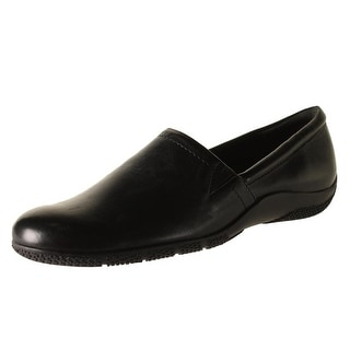 Walking Cradles Womens Destiny Leather Slip On Flats - 6 wide (c,d,w)