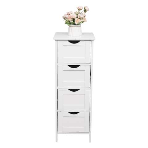 "32""FCH 4 Drawers bathroom ark Storage Cabinet white - 4-Drawers"