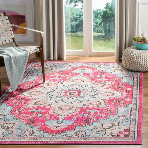 SAFAVIEH Madison Diederike Boho Medallion Distressed Rug