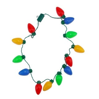Wembley Holiday Christmas Lights Necklace
