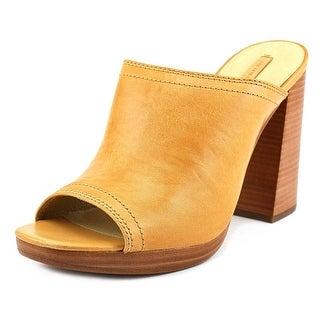 Frye Karissa Mule Peep-Toe Leather Mules