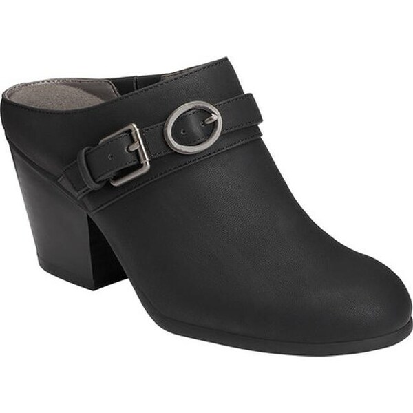 2ce686ecdcc A2 by Aerosoles Women  x27 s Velviteen Heeled Mule Black Faux Leather