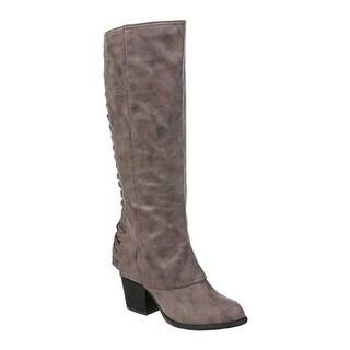 Fergalicious Women's Tinley Knee High Boot Doe Oiled Fabric