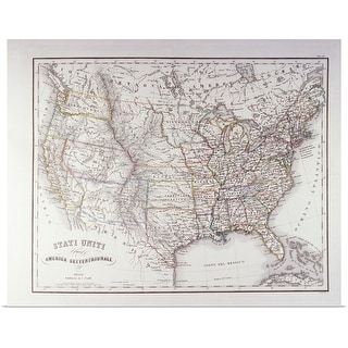 """""""Map of the Northen United States"""" Poster Print"""