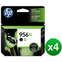 HP 956XL High Yield Black Original Ink Cartridges (L0R39AN)(4-Pack)