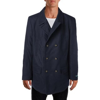 Lauren Ralph Lauren Mens Wool Blend Double-Breasted Pea Coat
