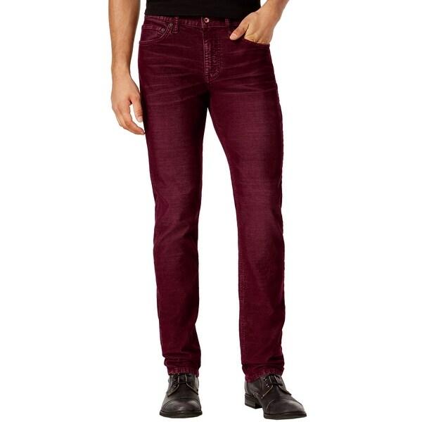 Edun Corduroy Classic Skinny Jeans Oxblood Burgundy 32 Waist