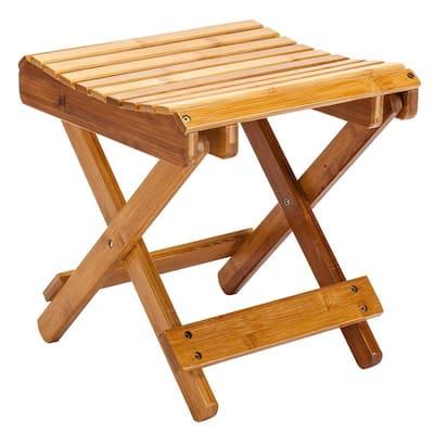Children's Multifunctional Folding Bath Bench Bamboo Stool