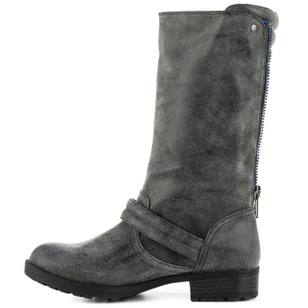 Just Fab Womens gilora Closed Toe Ankle Riding Boots - 5.5