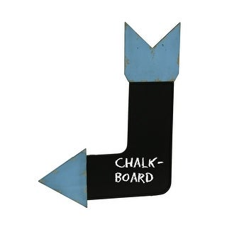 Arrow Shaped Distressed Finish Chalkboard Wall Hanging