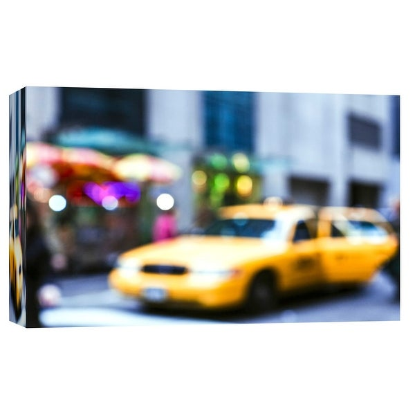 """PTM Images 9-101716 PTM Canvas Collection 8"""" x 10"""" - """"Lights of the City: Taxi"""" Giclee Transportation Art Print on Canvas"""