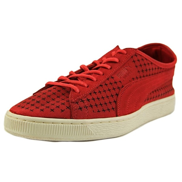 Puma Courtside Perf   Round Toe Suede  Sneakers