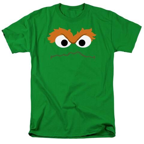 Sesame Street Oscar Face Mens Short Sleeve Shirt
