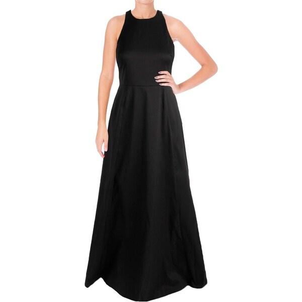 Vera Wang Womens Evening Dress Cut-Out Sleeveless
