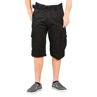 MO7 Young Men's Solid Belted Cargo Short