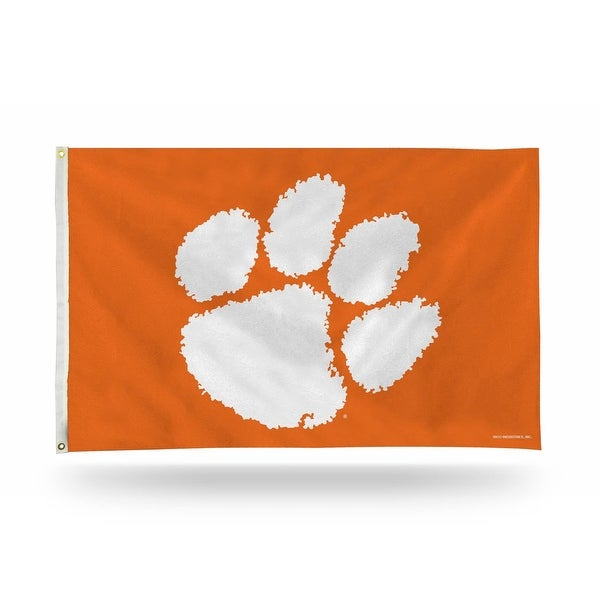 3' x 5' White and Orange College Clemson Tigers Banner Flag - N/A