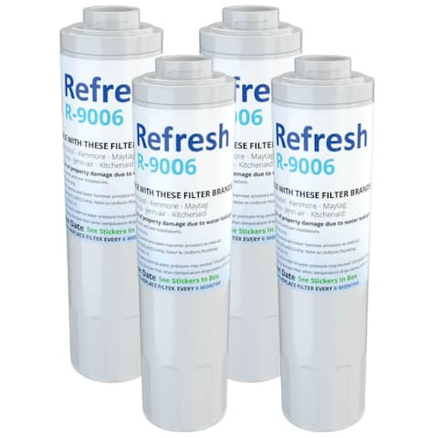 Replacement Water Filter For Whirlpool GI6FDRXXY07 Refrigerator Water Filter - by Refresh (4 Pack) - White