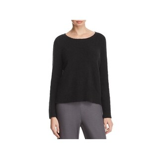 Eileen Fisher Womens Pullover Sweater Chenille Ribbed Knit