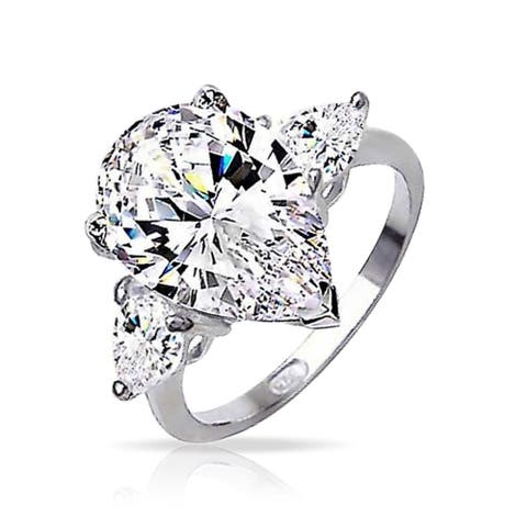 dd4203736a9c8 Buy Pear Cubic Zirconia Rings Online at Overstock | Our Best Rings Deals