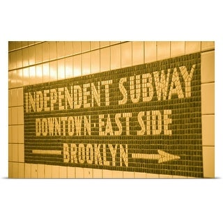 Poster Print entitled Subway sign in New York City, USA