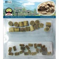 "Hay Bale Mix .5"" 35/Pkg-15 Round & 20 Rectangular"