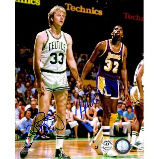 Larry Bird  Magic Johnson Dual Boston Celtics vs Los Angeles Lakers 8x10 Photo