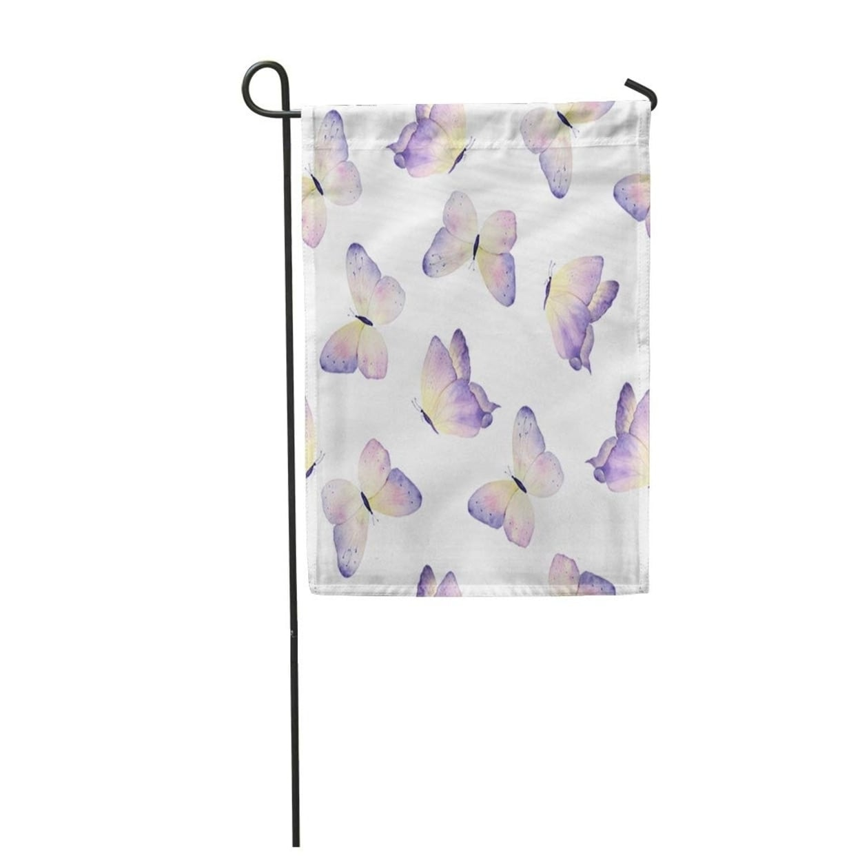 Blue Butterfly Watercolor Butterflies Colorful Pattern Animation Artistic Garden Flag Decorative Flag House Banner 12x18 On Sale Overstock 31337469