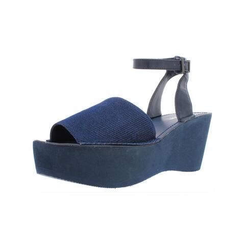 013a4e6af3 Kenneth Cole Reaction Womens Dine With Me Wedge Sandals Shimmer Platform