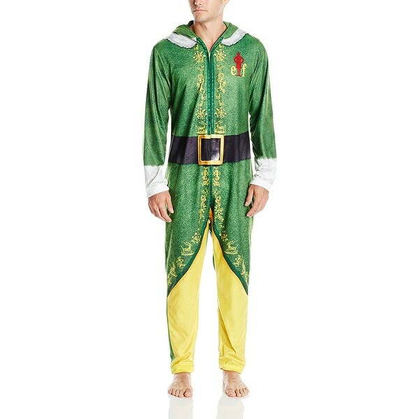 1d50bbdad Shop Warner Brothers Buddy the Elf Men s Hooded Uniform Union Suit ...