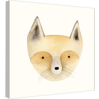 "PTM Images 9-99055  PTM Canvas Collection 12"" x 12"" - ""Fox Watercolor Face"" Giclee Foxes Art Print on Canvas"