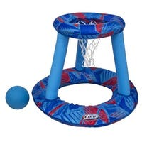 """27.5"""" Red and Blue Inflatable Swimming Pool Spring Floating Basketball Game"""