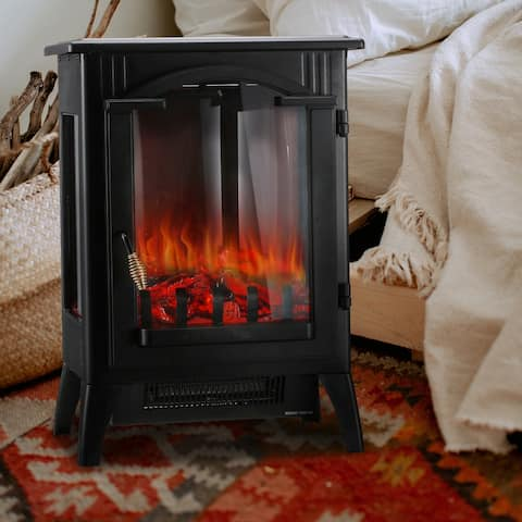 Ainfox 3D Stove, Fireplace Heater With Realistic Flame Effects, Portable Indoor Space Heater With Overheating Safety System