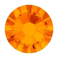 Swarovski Elements Crystal, Round Flatback Rhinestone SS16 3.8mm, 50 Pieces, Tangerine F