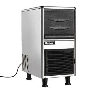 Costway Stainless Steel Commercial Ice Maker 110lbs/24h Freestanding Restaurant Bar