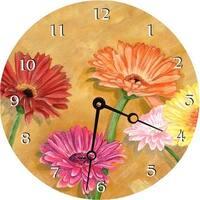 Gerber Daisies Round Clock
